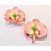 Haarkammen Pink Orchid