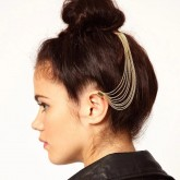Hairchain with comb and earcuff