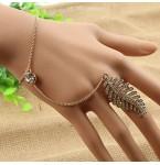Handsieraad Crystal Leaf