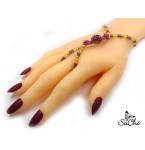 Handsieraad Purple Rose