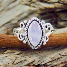 Zilveren Ring Iris