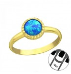 Zilveren Midi Ring Blue Lagoon