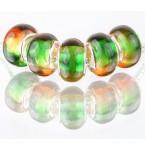 Murano Glasbedel Green and Orange