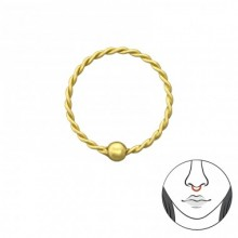 10 MM Zilveren Neusring Madelon Gold