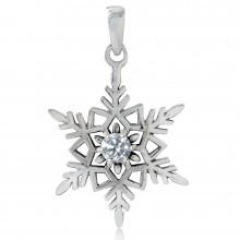 Zilveren Kettinghanger Snowflake