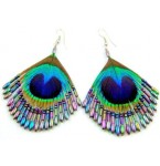Iridescent Peacock Earrings