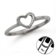 Zilveren Vingertop Ring Heart