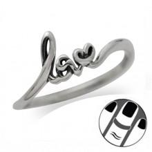 Zilveren Vingertop Ring Loving
