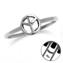 Zilveren Midi Ring Peace