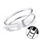 Zilveren Midi Ring Two Lines