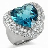 Zilveren Ring Glamm Heart