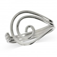 Zilveren Ring Swirl