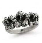 Zilveren Ring Hibiscus