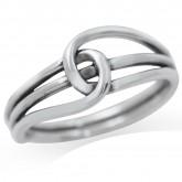 Zilveren Ring Knot