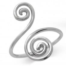 Zilveren Ring Spiral