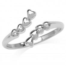 Zilveren Ring Lots of Hearts
