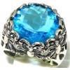 Zilveren Ring Vlinders met Blauwe Topaas