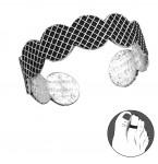 Zilveren teenring Grafika