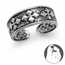 Zilveren Teenring Iron Cross