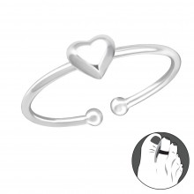 Zilveren Teenring Lovely heart
