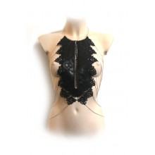 Bodychain Black Lace