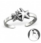 Zilveren Teenring Two Stars