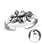 Zilveren Teenring Fleurie