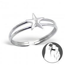 Zilveren Teenring Star