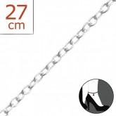 Zilveren Enkelbandje Simple 27 cm.