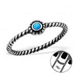 Zilveren Midi Ring Opal Azure