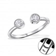 Zilveren Midi Ring Sophie