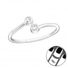 Zilveren Midi Ring Stephanie