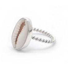 Zilveren Ring Cowrie Shell