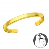 Zilveren Teenring Avery Gold