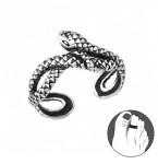 Zilveren Teenring Big Snake