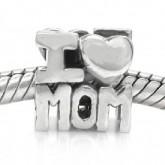 Zilveren Bedel I Love Mom