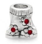 Zilveren Bedel Broek met Rode Kristallen