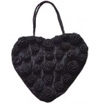 Tas Black Heart and Roses