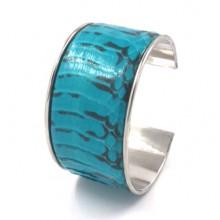 Lederen Armband Serpenta Turquoise