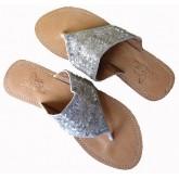 Lederen Slippers Mallorca Sunset Silver