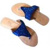 Lederen Slippers Venice Beach Blue