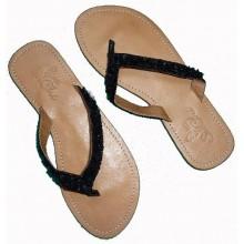 Lederen Slippers Acapulco Beach Black