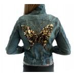 Spijkerjasje Black Butterfly