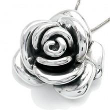 Zilveren Kettinghanger Rose
