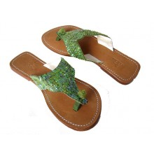 Lederen Slippers Venice Beach Green
