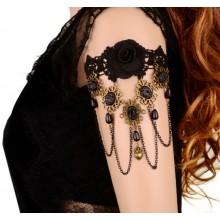 Bovenarm Armband Black Rose