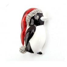 Broche Kerst Pinguïn