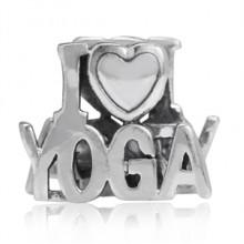 Zilveren Bedel I Love Yoga