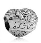 Zilveren Bedel Hart van Bloemen & Liefde