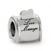Zilveren Bedel Love Message